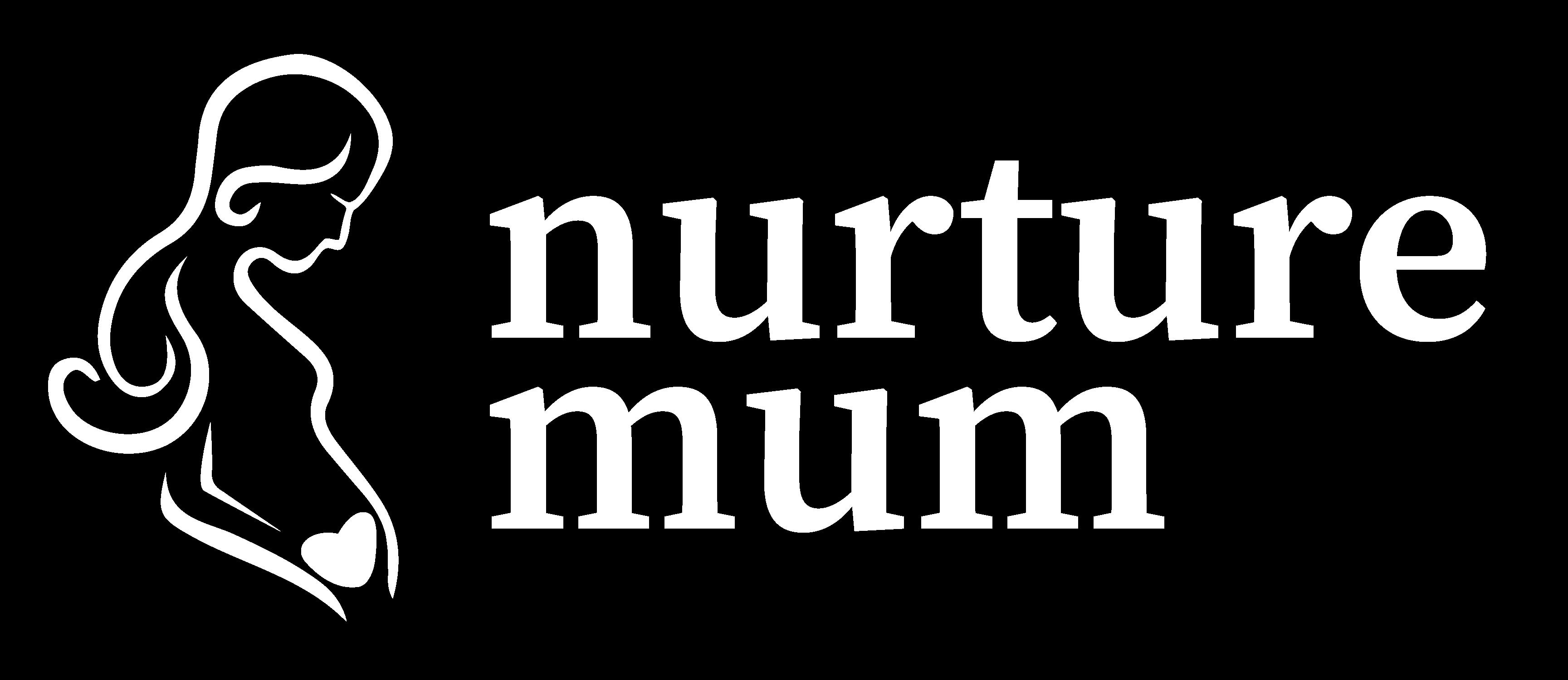 A white version of the NurtureMum logo